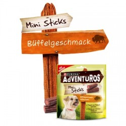 PURINA Adventuros Mini Sticks 90g z bawoła