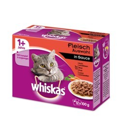 Whiskas 12 x 100 g Adult- Mix mięs w sosie