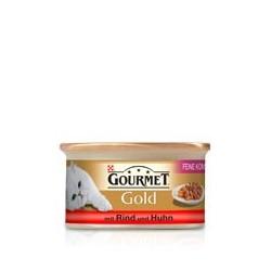 GOURMET GOLD 85g - Kawałki kaczki z indykiem w sosie