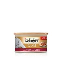 GOURMET GOLD 85g - Kawałki wołowiny z kurczakiem w sosie