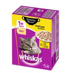Whiskas 12 x85g Adult- Drób w kremowym sosie