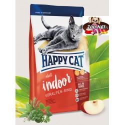 Happy Cat Indoor dla kotów domowych z wołowiną
