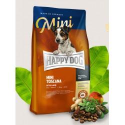 Happy Dog MINI Toscana- bezglutenowa, nie zawiera drobiu
