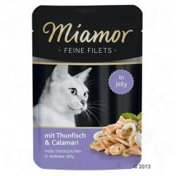 Miamor Feine Filets 100g tuńczyk z kalmarami w galarecie