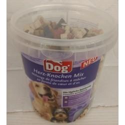 DOG Mix kosteczek i serduszek - miękkie przysmaki dla psa 500g