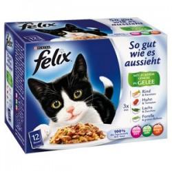 Felix 12x100g So gut mix mięs z warzywami w galarecie
