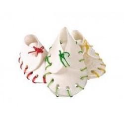 Buty pielęgnujące zęby z kolorowymi sznurowadłami 10szt / 100g
