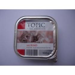 TOPIC szalka 100g pasztet z wołowiną