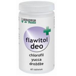 Flawitol Deo z chlorofilem i Yucca Schidigera (tabletki) - 60 szt