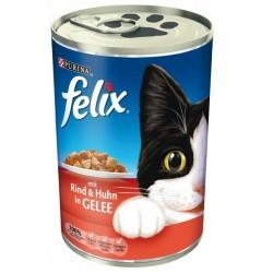 Felix 400g  - wołowina z kurczakiem w galarecie