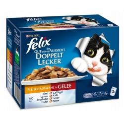 Felix 12x100g So gut podwójnie smaczne mięso w galarecie