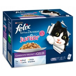 Felix 12x100g Junior - Mix w galarecie