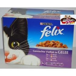 Felix 10x100g mix mięs w galarecie