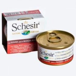 Schesir Natural 85g - Tuńczyk z wołowiną i ryżem