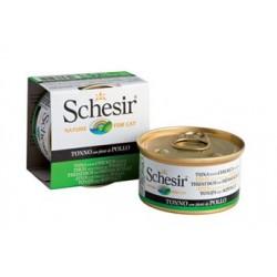 Schesir 85g - Tuńczyk z kurczakiem w galarecie