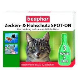 BEAPHAR Spot on dla Kota 3 x 0,8ml - Preparat biobójczy