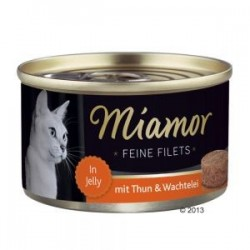 Miamor Feine Filets 100g Tuńczyk i jajko przepiórki w galarecie