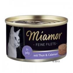 Miamor Feine Filets 100g  tuńczyk i kalmary w galarecie