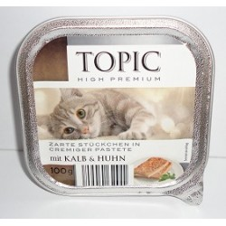 TOPIC szalka 100g kremowy pasztet z cielęciną i kurczakiem