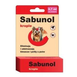 SABUNOL Krople przeciw pchłom i kleszczom 0,7ml