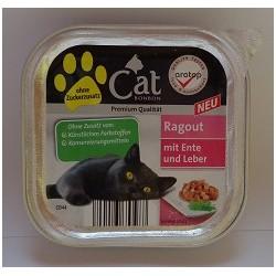 CAT PREMIUM 100g- Kaczka z wątróbką kawałki