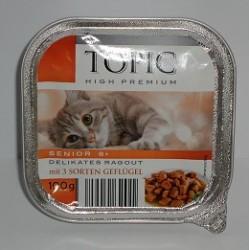 TOPIC szalka 100g Senior- Mix 3 mięs drobiowych w galarecie