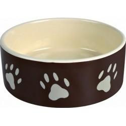 Trixie miska ceramiczna w kremowe łapki