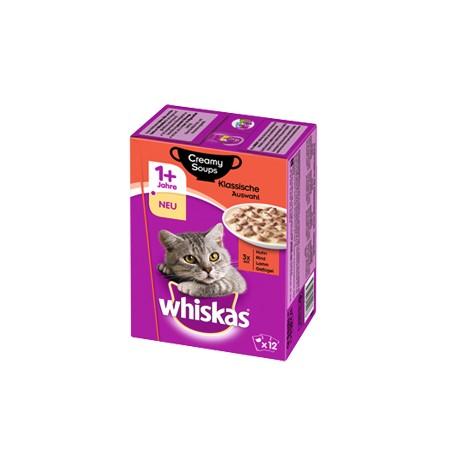 Whiskas 12 x85g Adult- Mięso w kremowym sosie