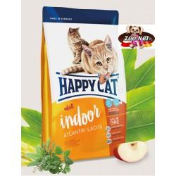 Happy Cat Indoor dla kotów domowych z łososiem atlantyckim