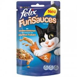 Felix fun sauces 5 x 15g - przysmak lub sos do karmy