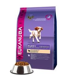Eukanuba Puppy & Junior dla szczeniąt bogata w jagnięcinę i ryż