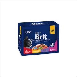 BRIT Premium Family plate 12 x 100g- mix mięs w sosie