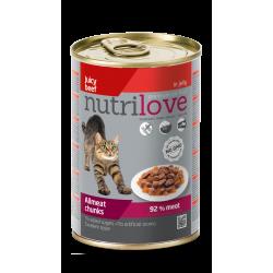 NutriLove 400g wołowina w galarecie dla kota