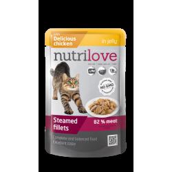 NutriLove 85g z łososiem dla sterylizowanych kotów