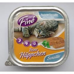 FINE 100g szalka - Sensitiv Indyk z ryżem pasztet