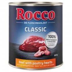 Rocco 800g Wołowina i serca drobiowe