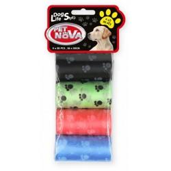 Woreczki na psie odchody - 4 rolki po 20 torebek kolorowych