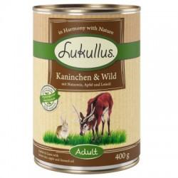 Lukullus Natural 400g- Królik dziczyzna