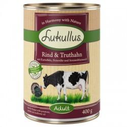 Lukullus Natural 400g- Wołowina indyk