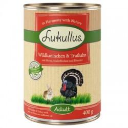 Lukullus Natural 400g- Dziki królik indyk