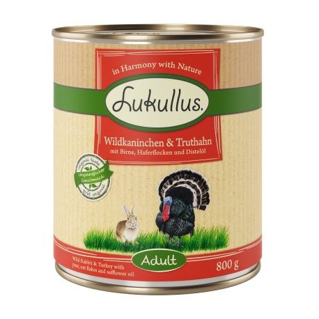 Lukullus Natural 800g- Dziki królik i indyk