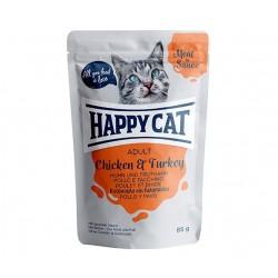 Happy Cat adult 85g- Kurczak indyk w sosie