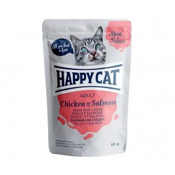Happy Cat adult 85g- Kurczak łosoś w sosie