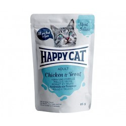 Happy Cat adult 85g- Kurczak pstrąg w sosie
