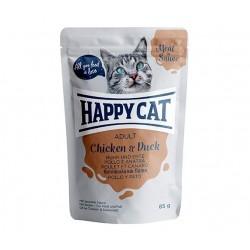 Happy Cat adult 85g- Kurczak kaczka w sosie