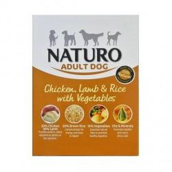 Naturo 400g kurczak, jagnięcina z ryżem i warzywami dla psa