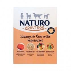 Naturo 400g łosoś z ryżem i warzywami dla psa