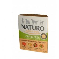 Naturo 400g GrainFree Bez zbóż Łosoś z ziemniakami i warzywami dla psa