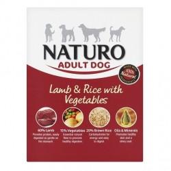 Naturo 400g jagnięcina z ryżem i warzywami dla psa