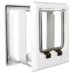 Drzwi wahadłowe dla kota, elektromagnetyczne 10-35mm (białe)